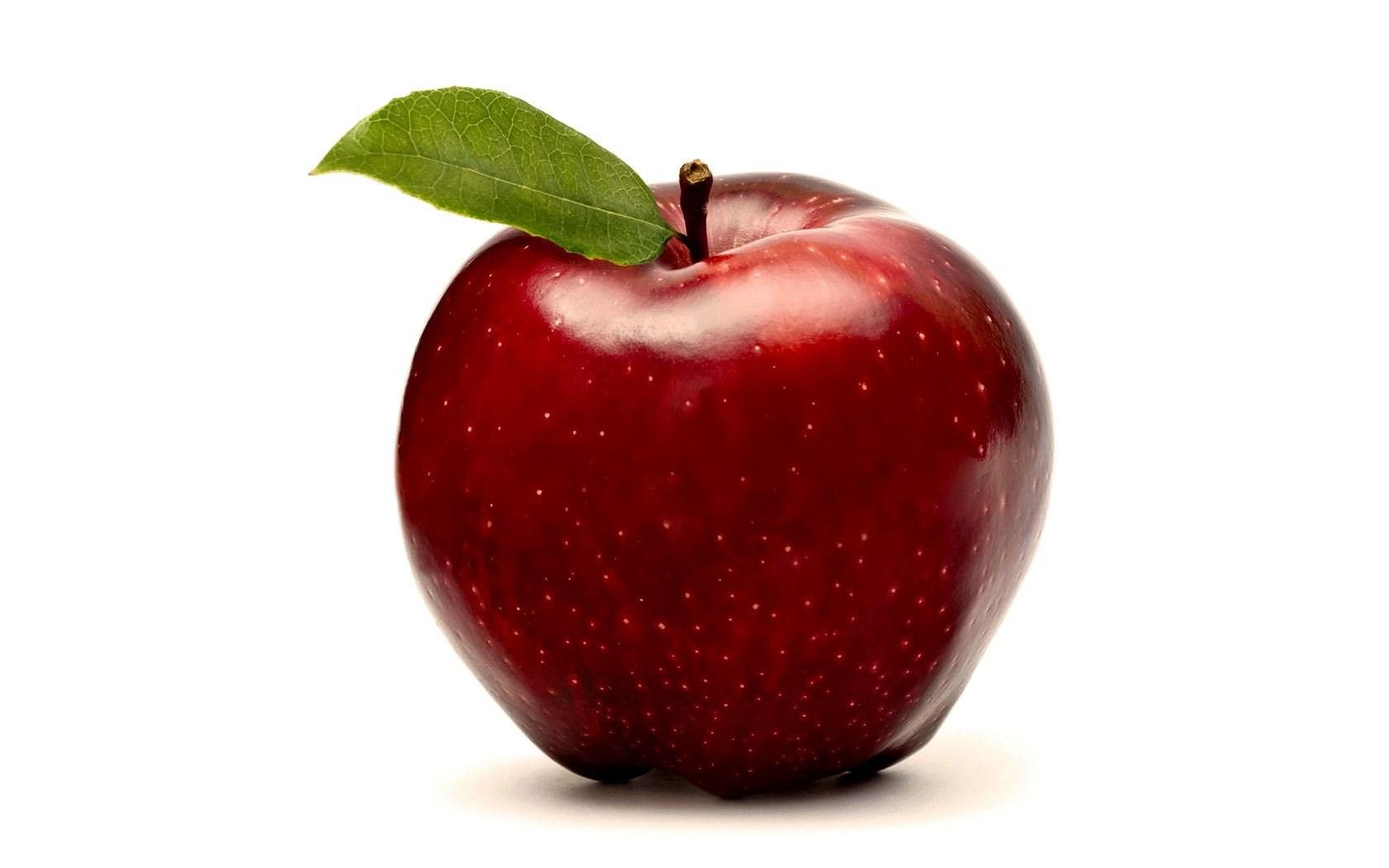 Red Apple Fruit Wallpapers White Backgrounds Desktop ...