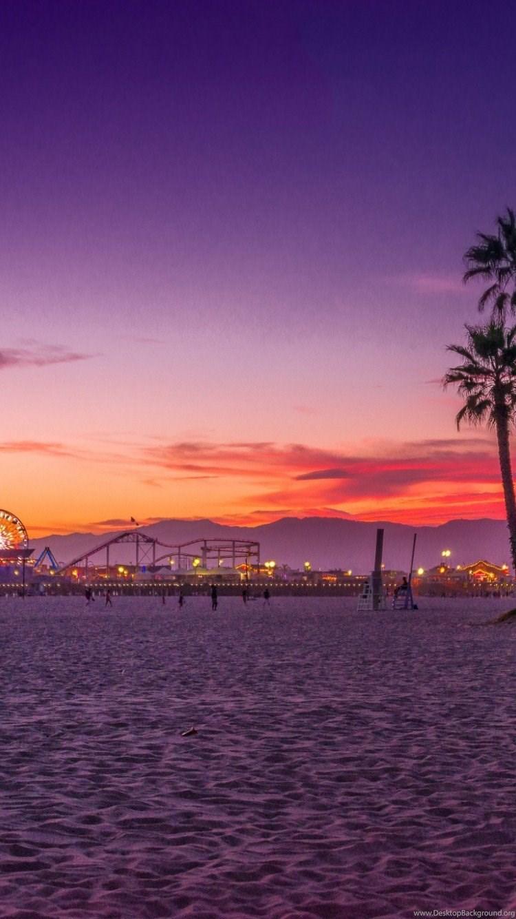 Los Angeles Santa Monica Beach Iphone 6 Wallpapers Hd Wallpapers Desktop Background