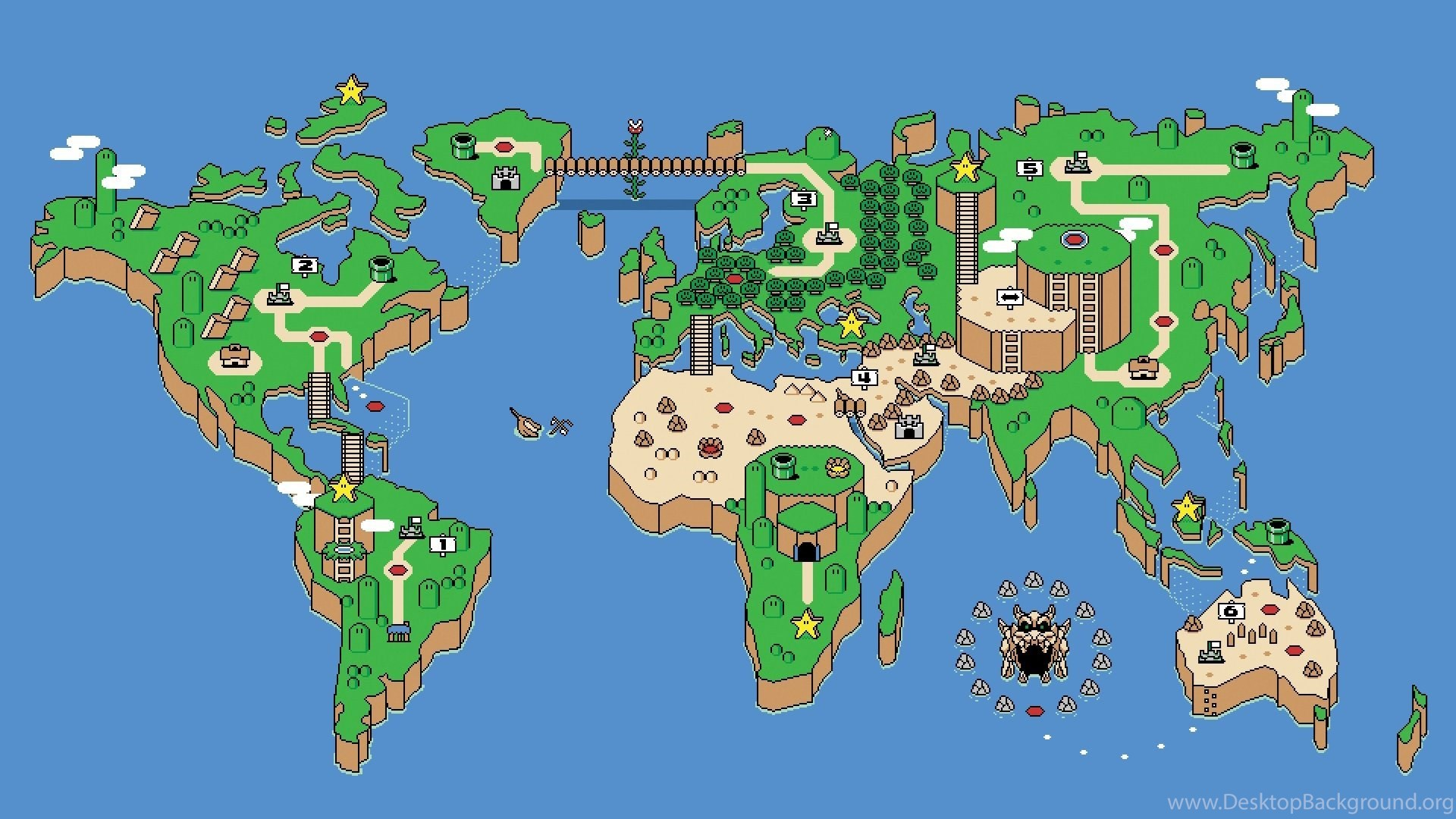 Super mario world world map wallpapers walldevil best free hd popular gumiabroncs Image collections