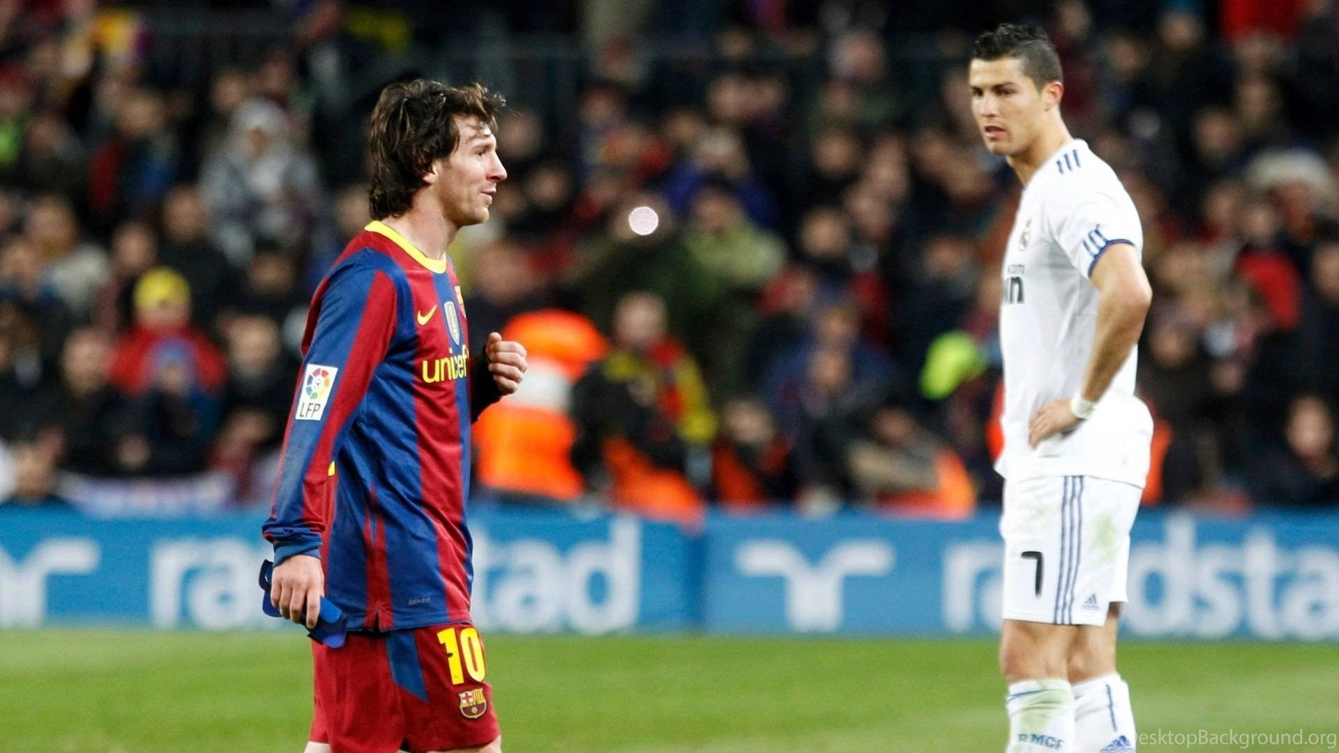 Cristiano Ronaldo Vs Lionel Messi Wallpapers Desktop Background