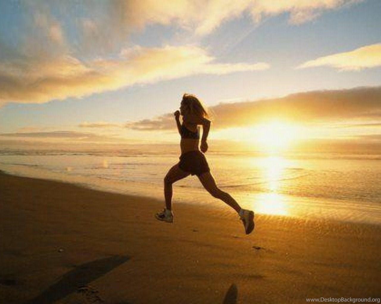 Nike Women Running Wallpapers Women Running Beach Sunrise