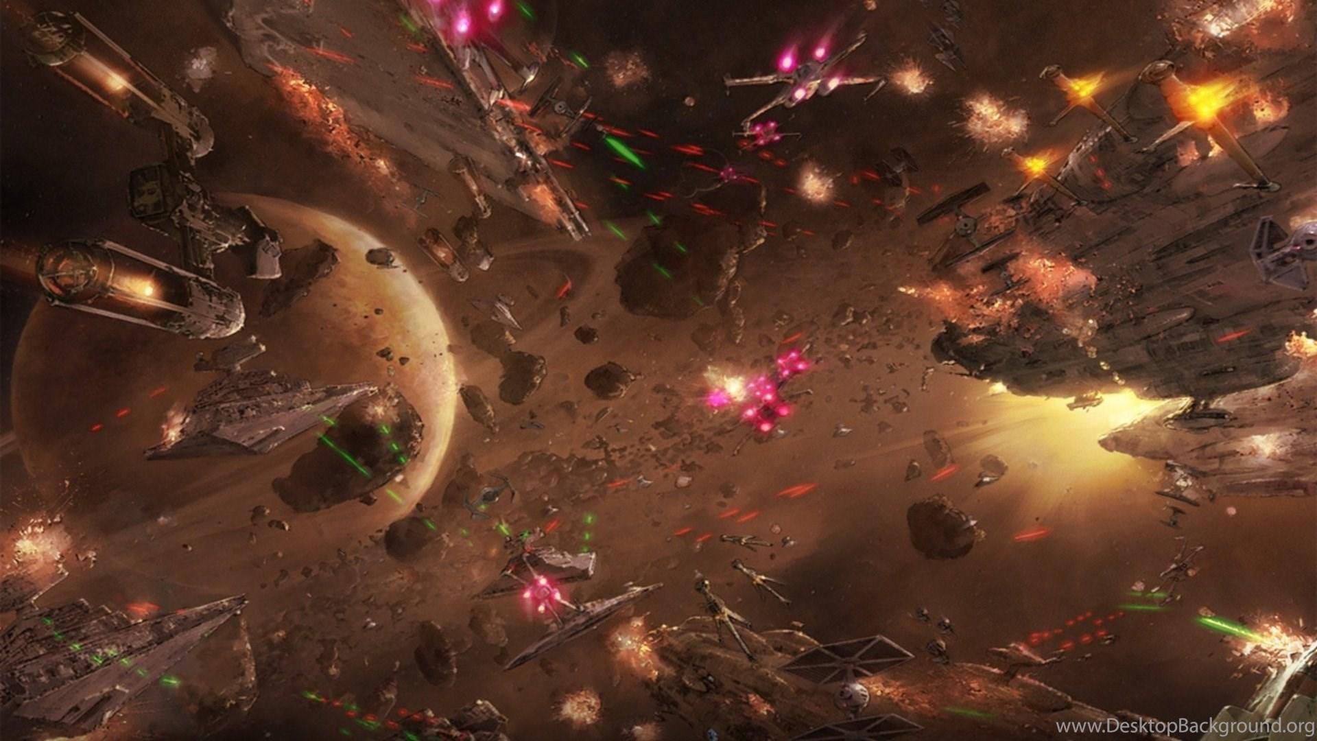 Star Wars Space Battle Hd Wallpapers Desktop Background