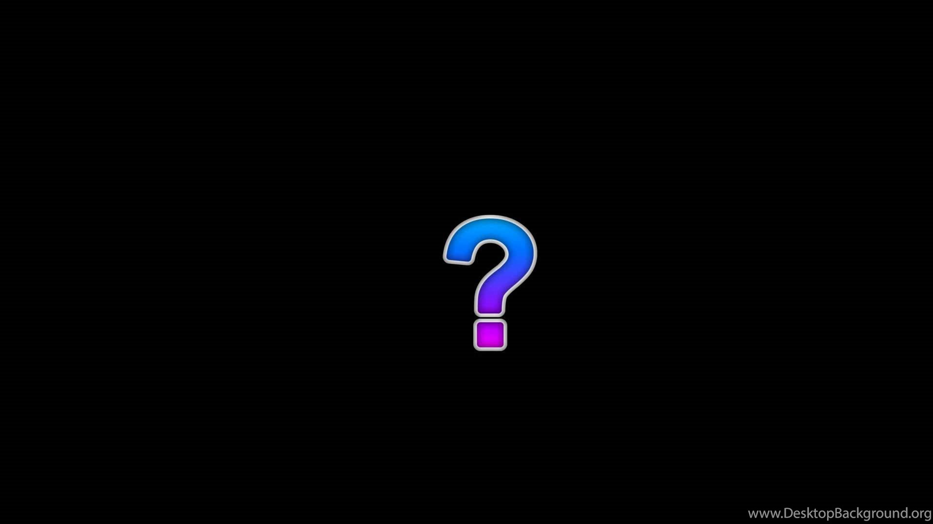 QUESTION MARK Bounce YouTube Desktop Background