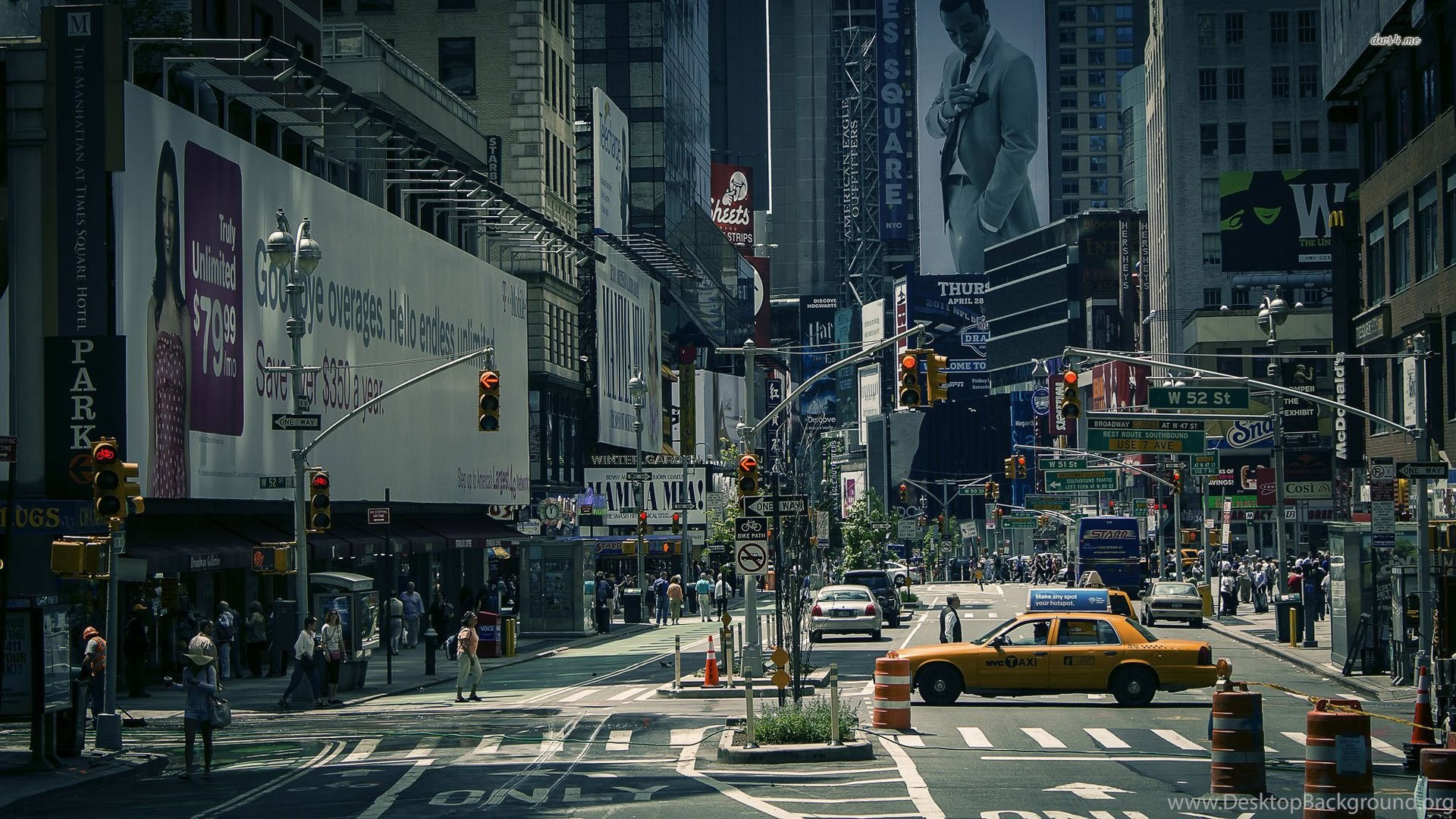 High Resolution NYC New York City Street Wallpapers HD 6 Full Size