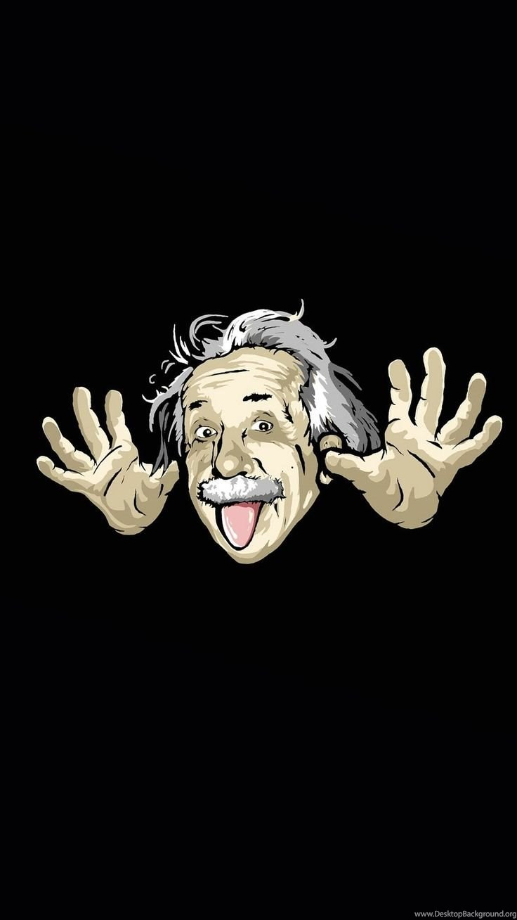 Cheeky Einstein Cute Funny Cartoon Iphone Wallpapers Repin For Desktop Background