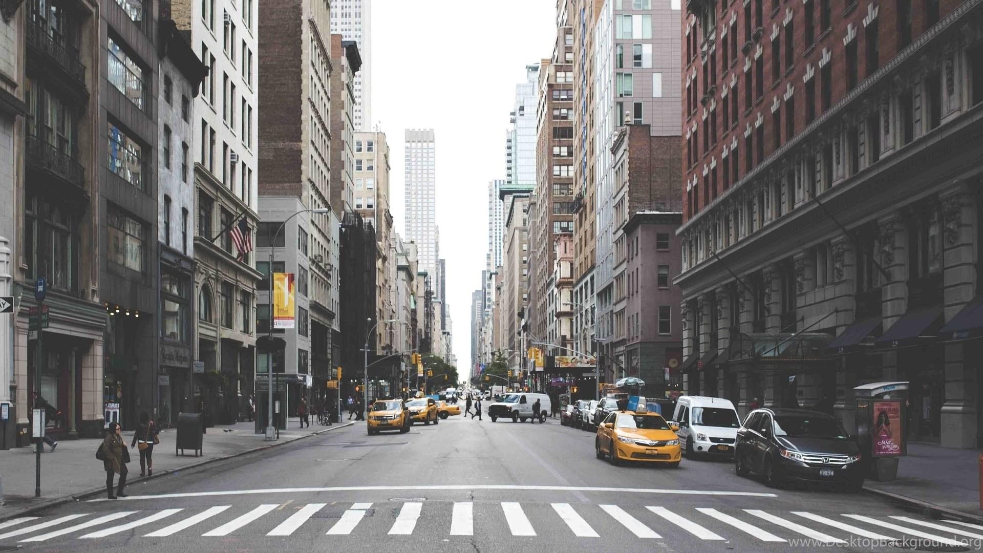 Day Vintage New York Street Photo Wallpapers HD Desktop Background