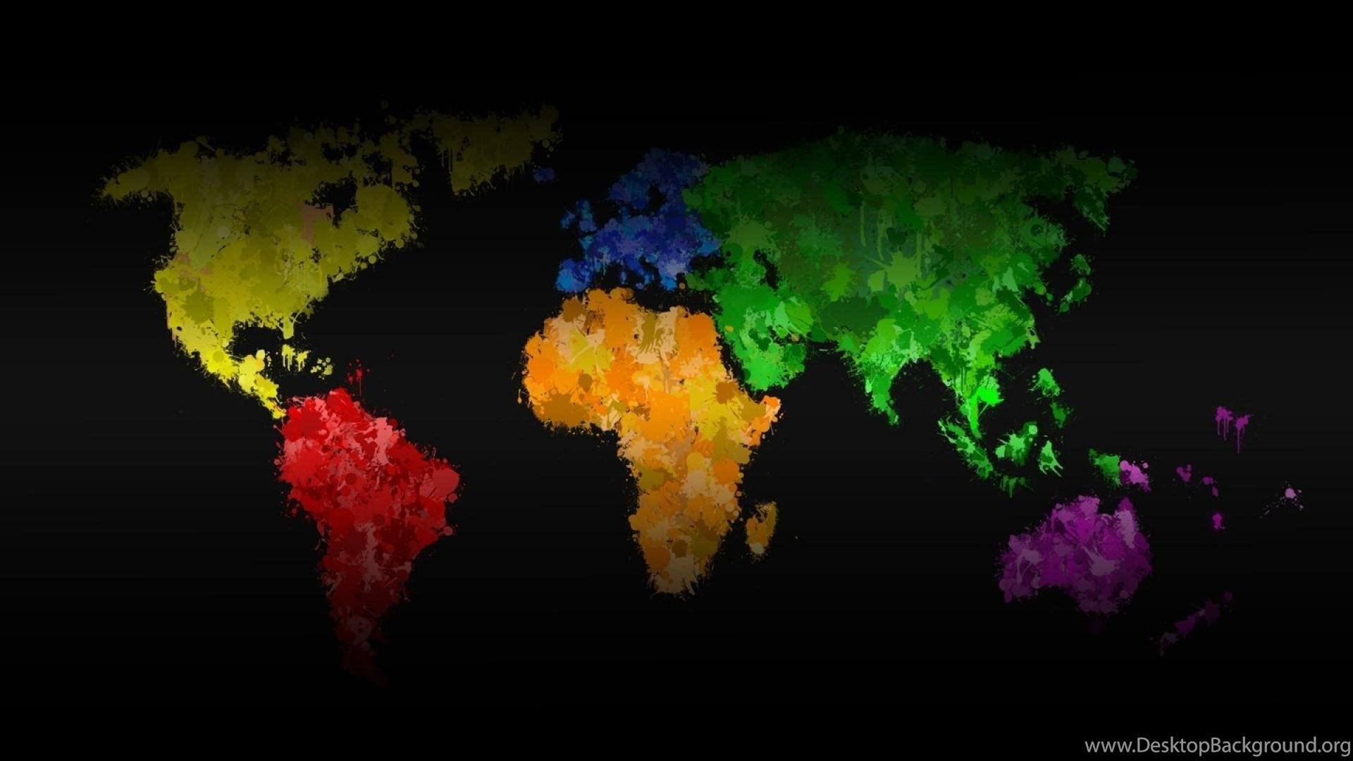 Multicolor digital art world map wallpapers desktop background popular gumiabroncs Images