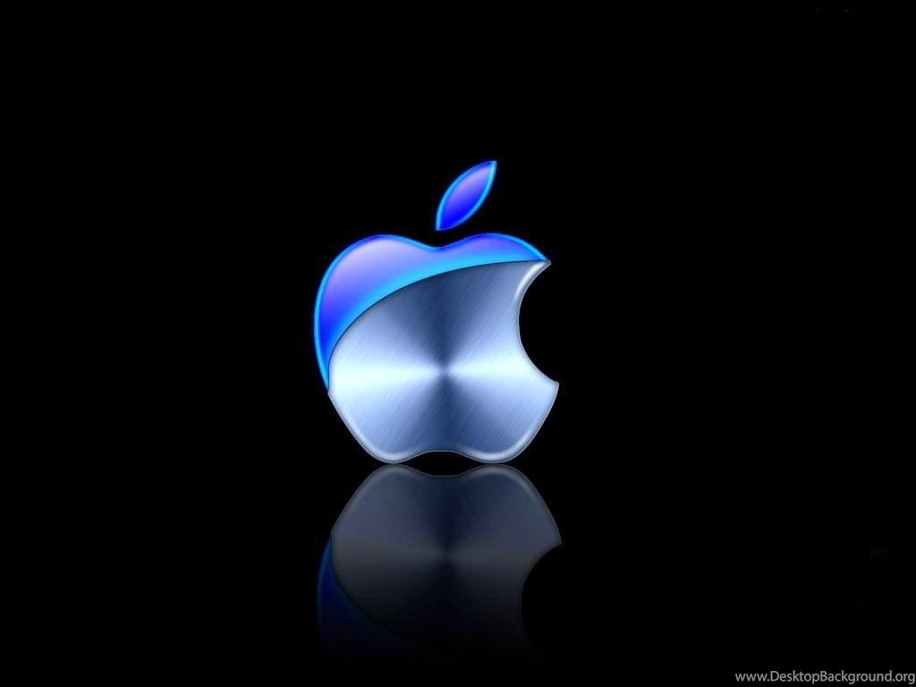 Blue Apple Wallpapers Metal Tech Black Computer Name Full Hd Logo
