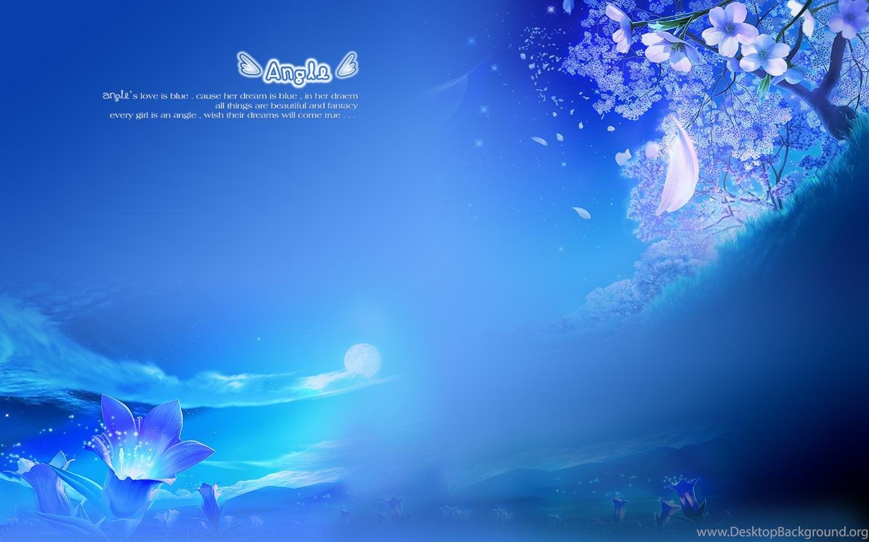 Blue Baby Angels Backgrounds Desktop Background