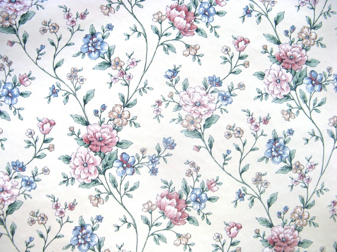 Vintage 80s Sunworthy Vinyl Rose Blue Vintage Floral By Casanero