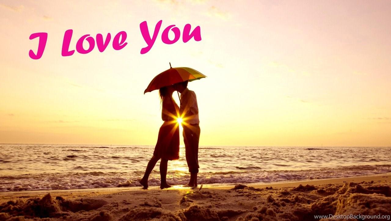 I Love You Girl And Boy Kissing In Evening Cute I Love U