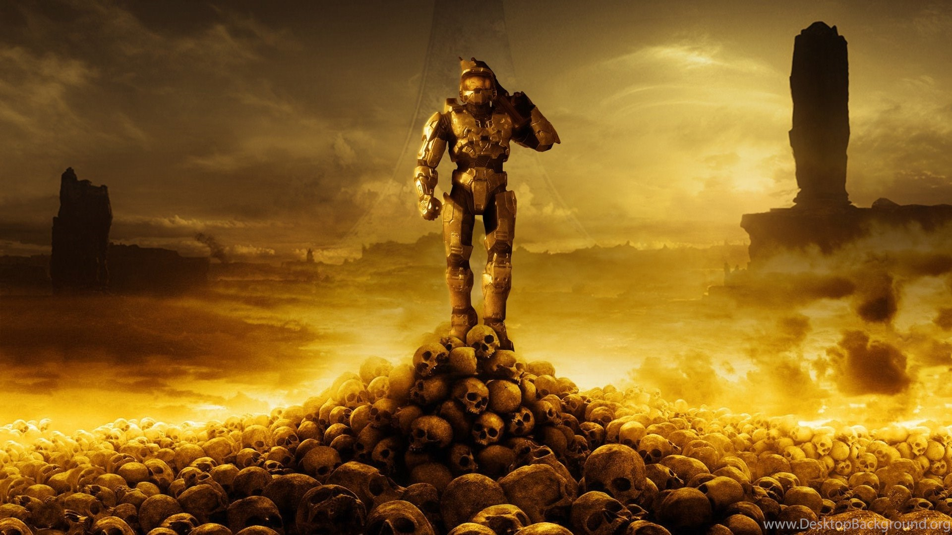 Halo Master Chief Halo 3 Skull Video Games Artwork Wallpapers
