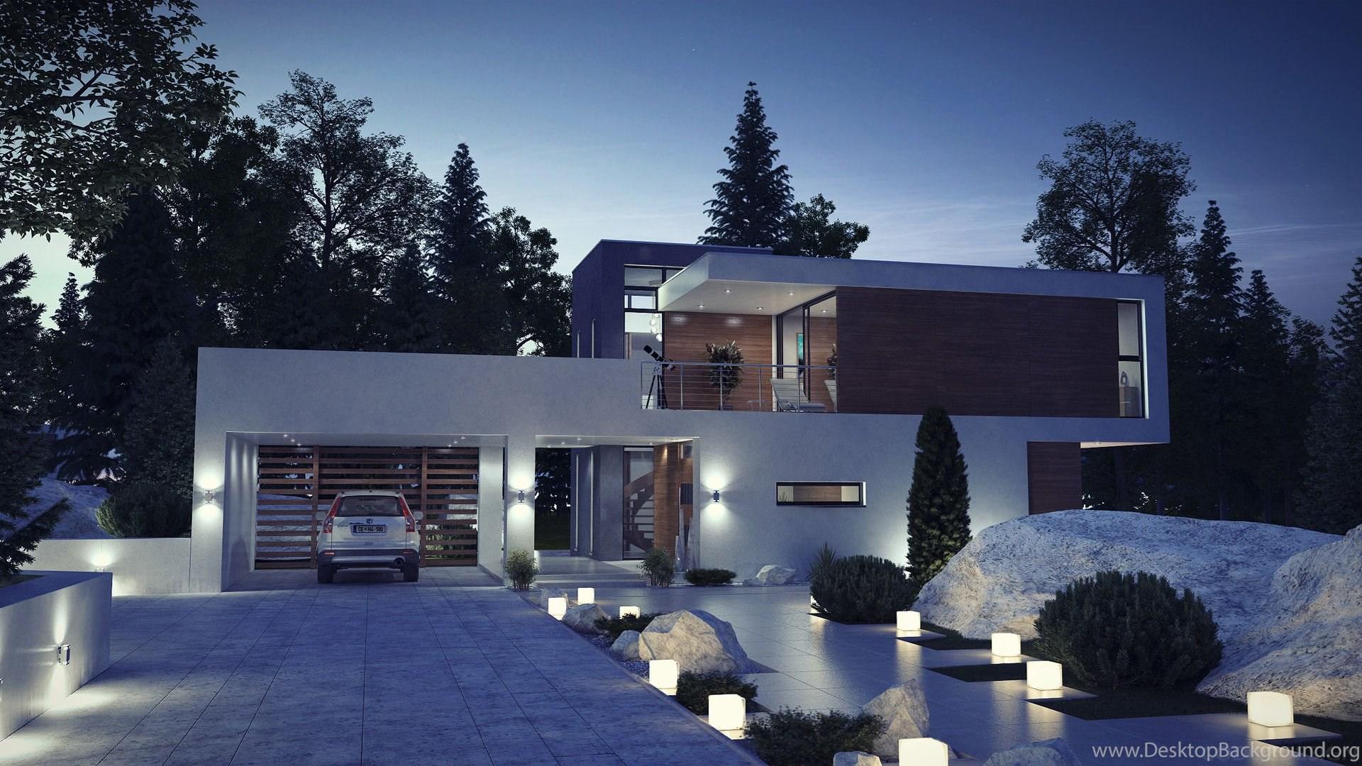 Simple Modern Houses Exterior Exterior ~ Waplag Desktop Background