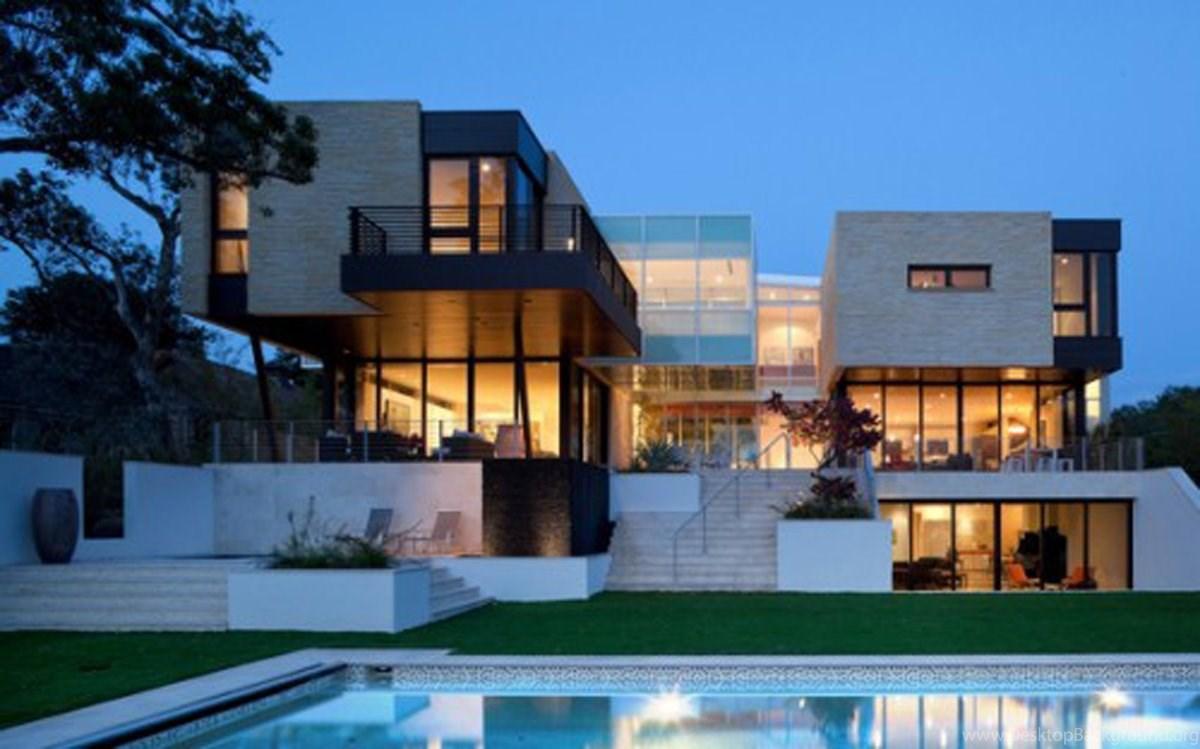 Home Design: Unique Design And Modern House Ideas, House Plan ... Desktop  Background