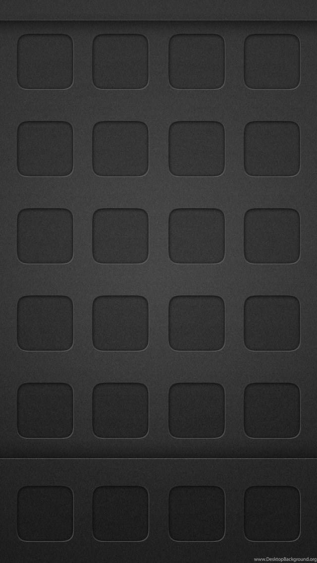 Clean Dark Homescreen Grid Iphone 5 Wallpapers Ipod Wallpapers Hd Desktop Background