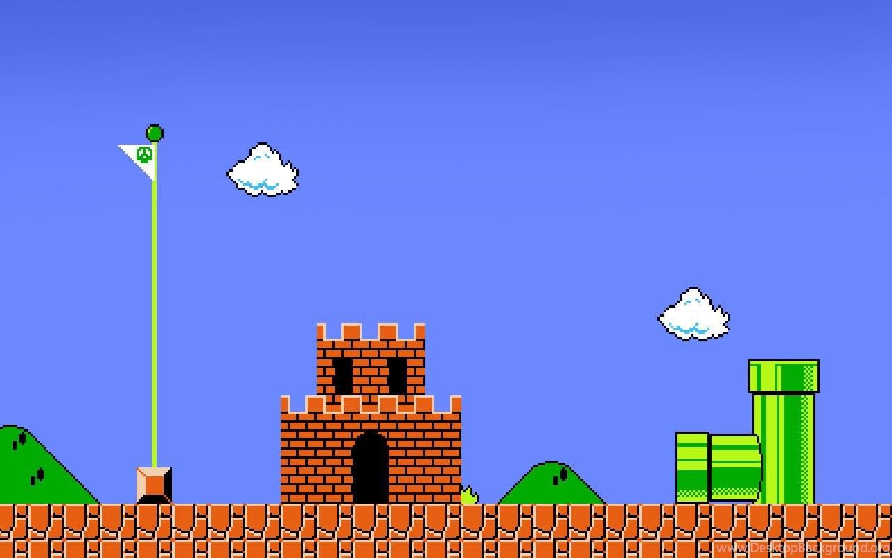 mario backgrounds game desktop background