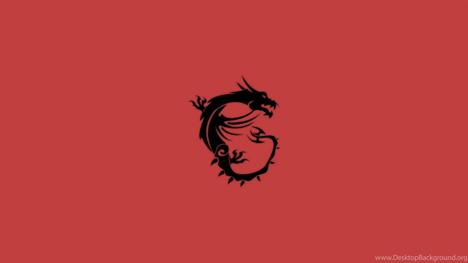 Msi dragon logo wallpapers red 1920x1080 4255 desktop background - Msi logo wallpaper ...