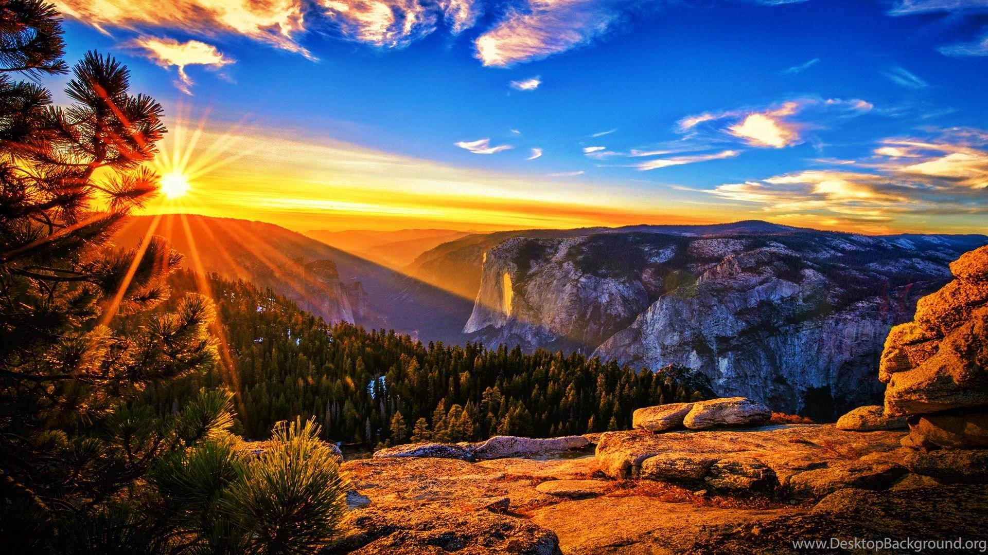 HD Beautiful Sunrise In The Mountain Wallpapers 1080p