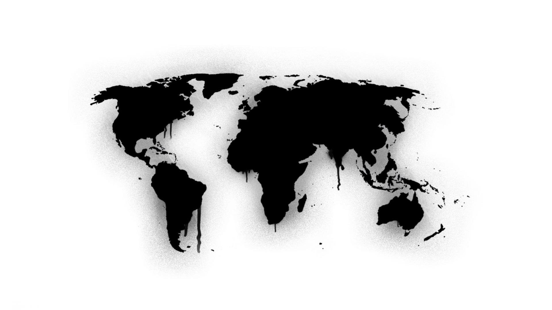 World Map High Resolution Black On White Hd Wallpapers