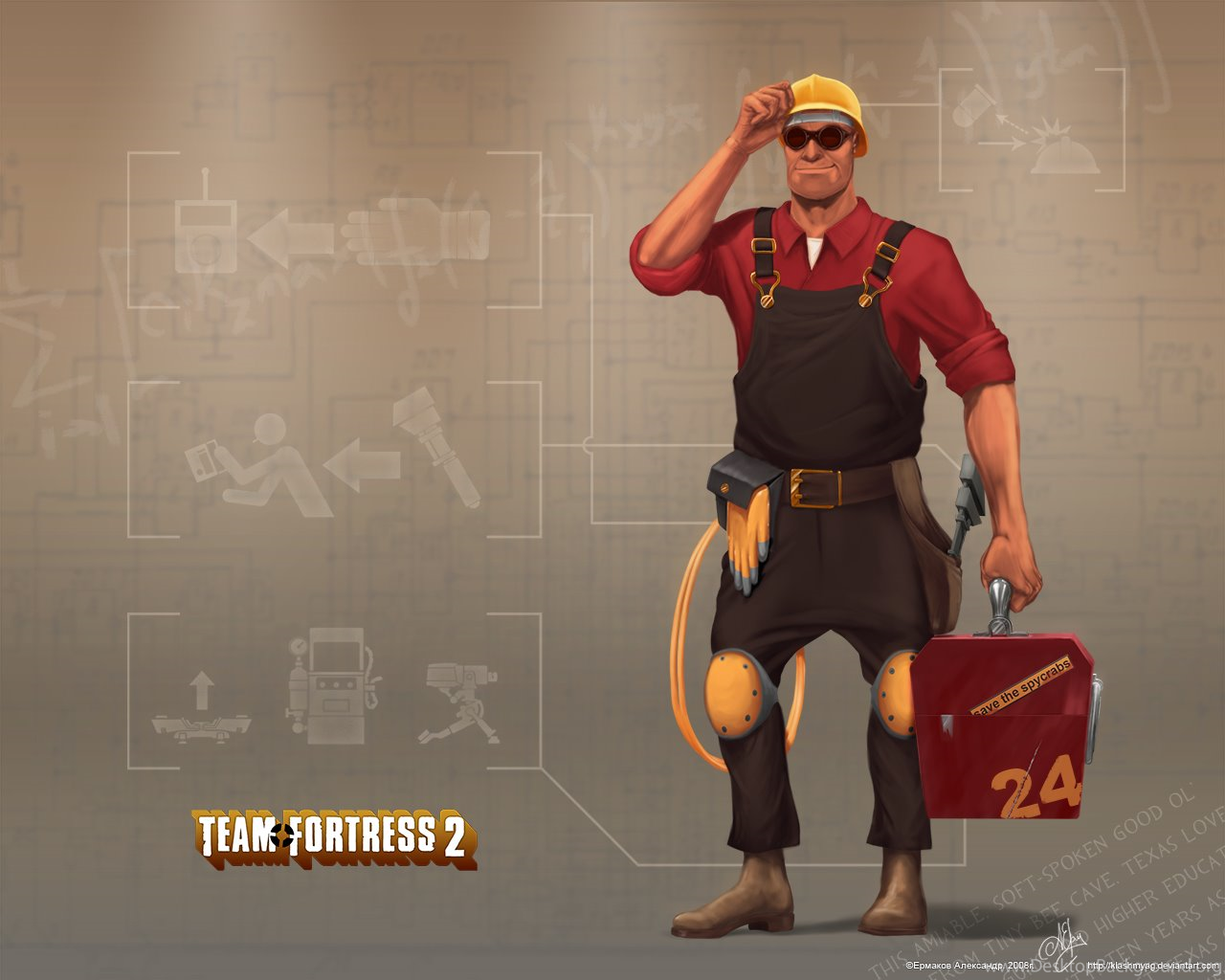 tf2 engineer wallpaper wwwpixsharkcom images