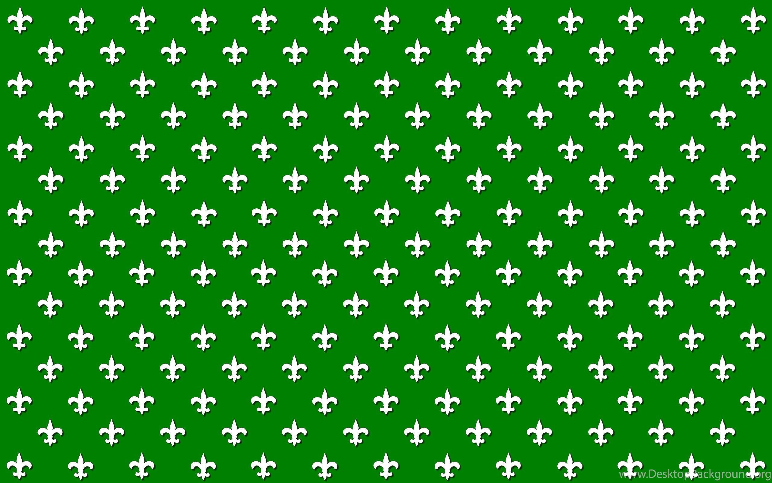 Wallpapers Simple Green Fleur De Lis Polka Dots Design 2560x1600