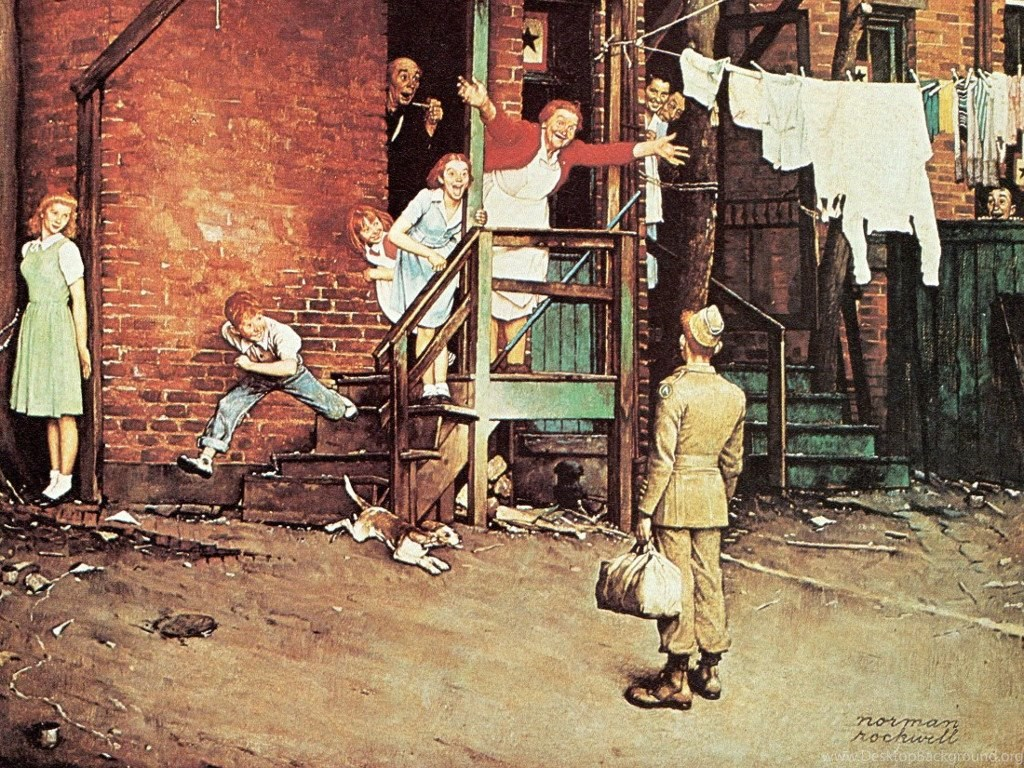 My Free Wallpapers Artistic Wallpapers : Norman Rockwell The ...