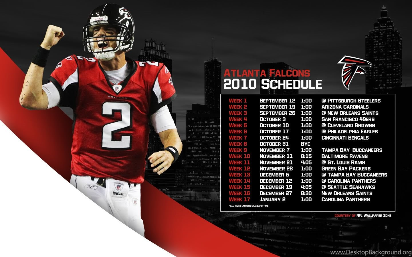 nfl wallpapers zone: 2010 atlanta falcons schedule wallpapers matt