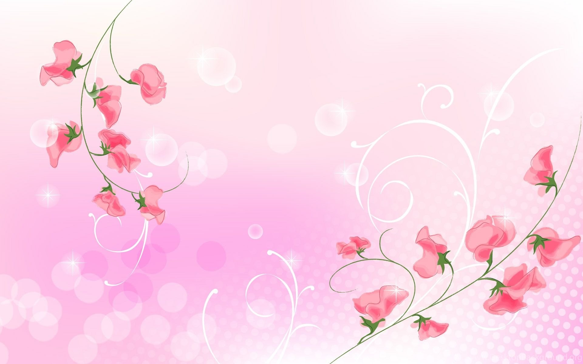 Pink Flower Wallpaper Backgrounds Wallpapers Cave Desktop Background