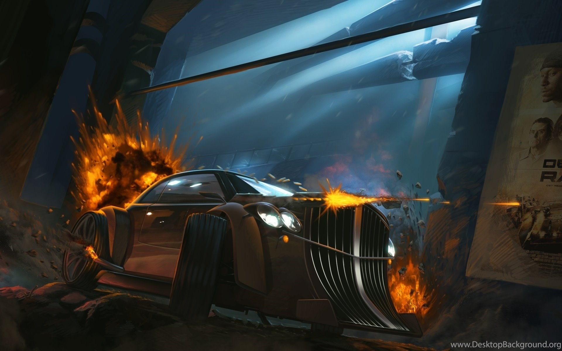 fire art explosions car death race cars vehicles wallpapers
