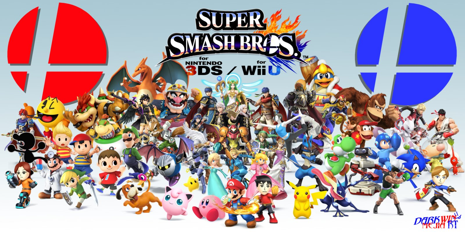 Super Smash Bros Wii U 3ds Wallpapers By Dmrt By Darkwinmejiart On