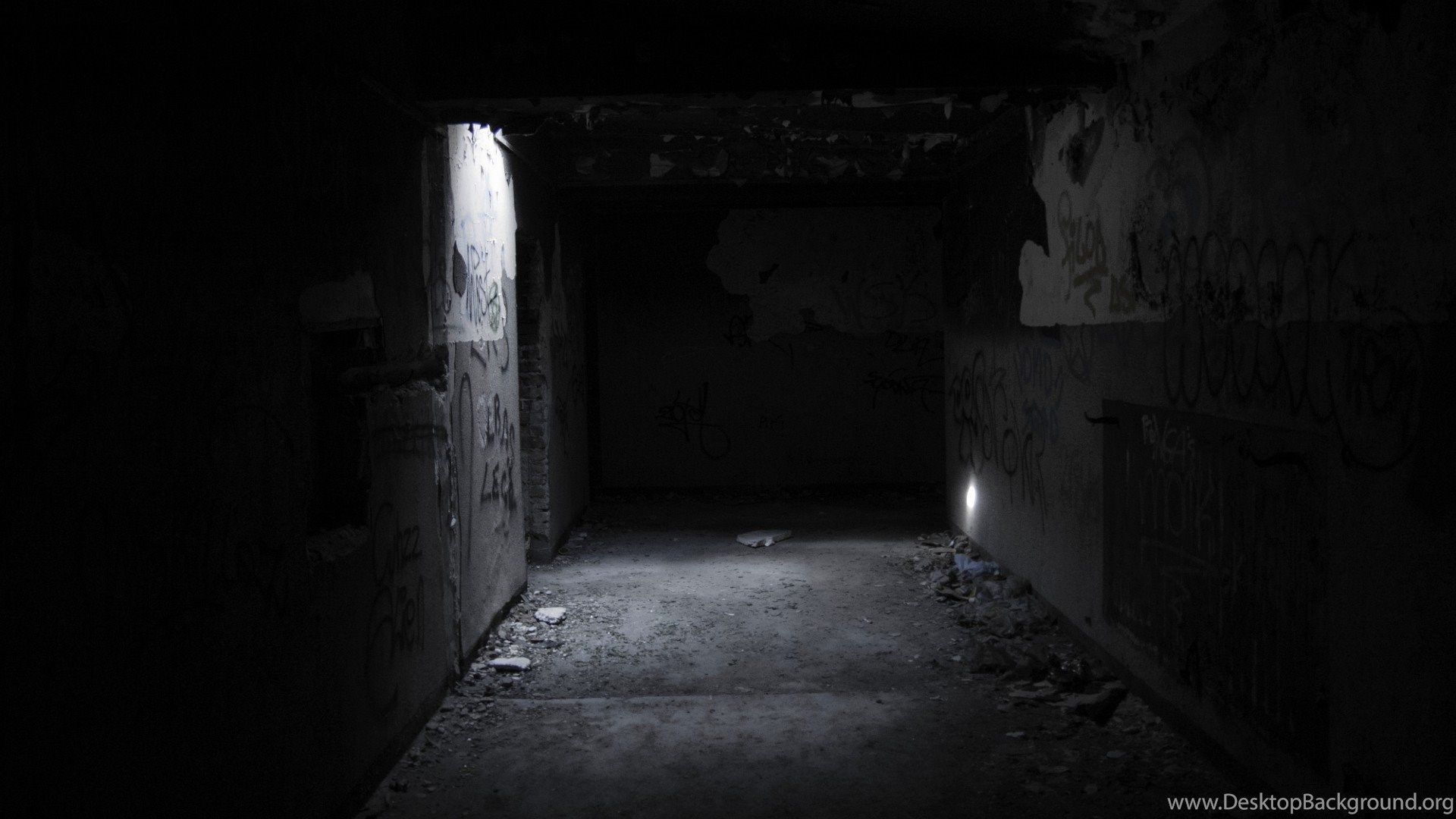 Dark Scary Monochrome Tunnel Wallpapers Desktop Background