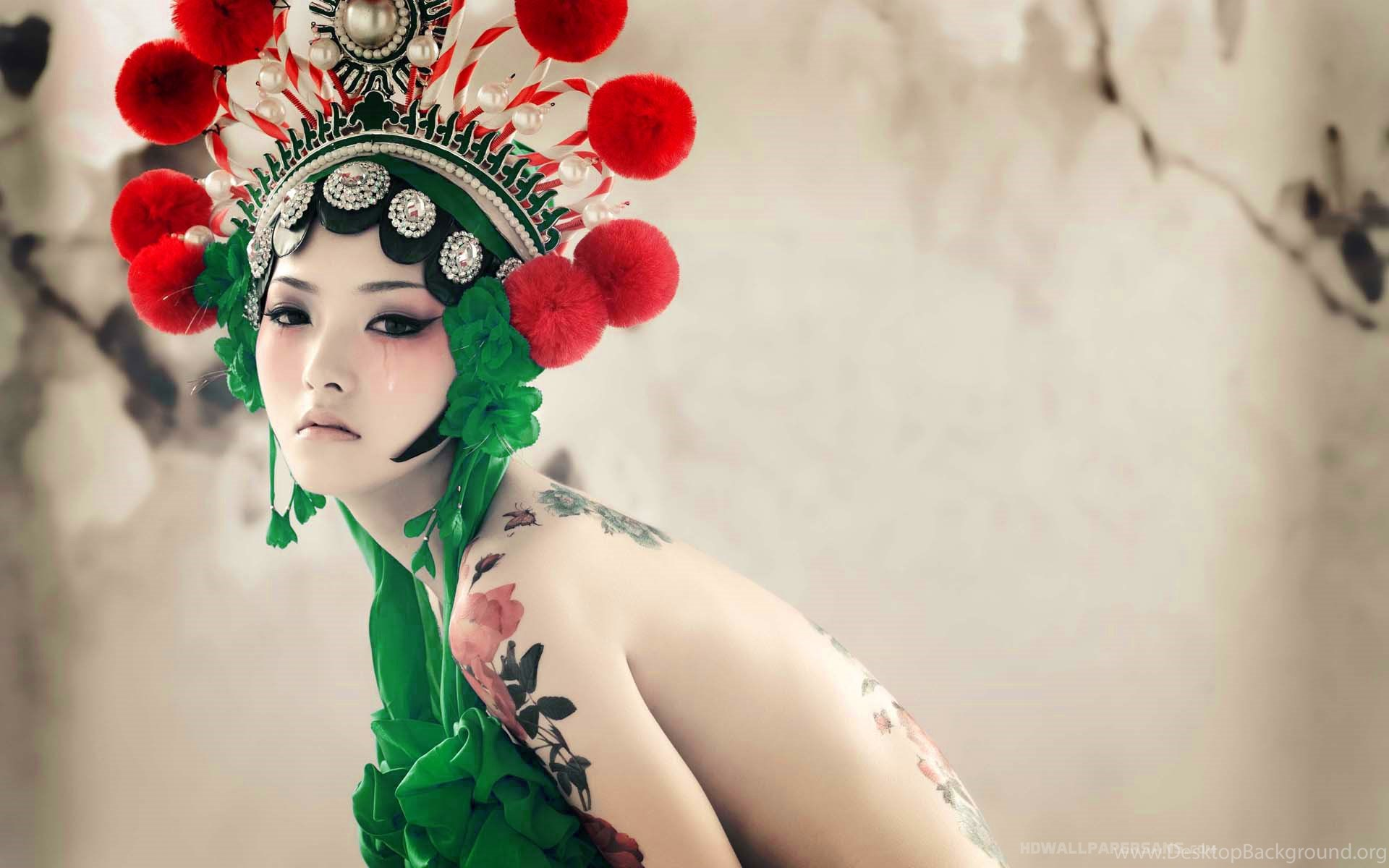 japanese girl with tattoos hd wallpapers hd wallpapers rate desktop