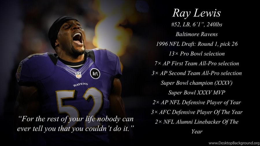 Ray Lewis Quotes Wallpaper: Ray Lewis Football Quotes. QuotesGram Desktop Background