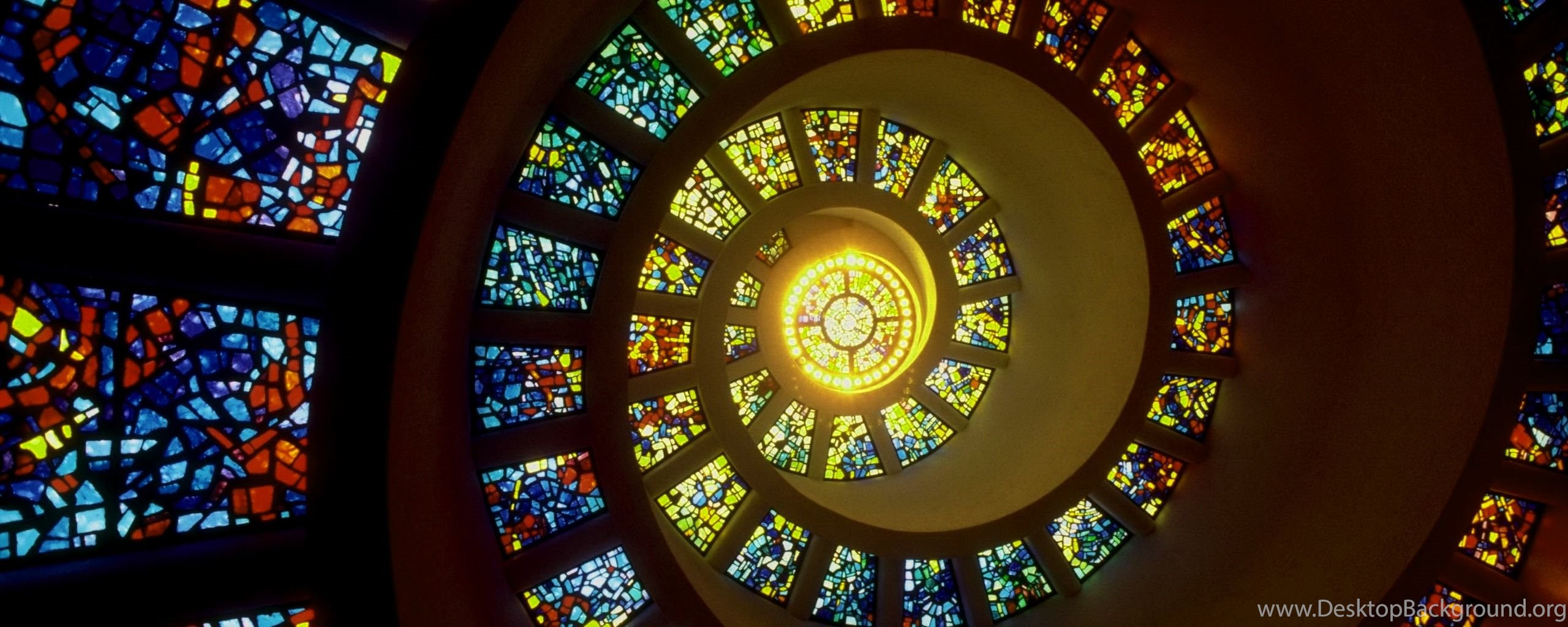 stained glass window wallpapers – 2560×1024 high definition