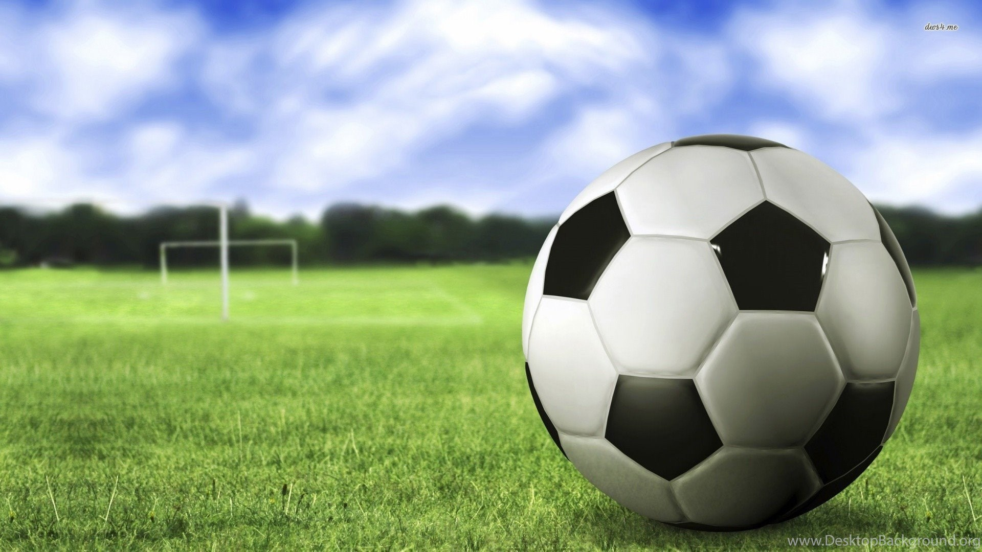 Soccer Field Backgrounds With Ball Desktop Background