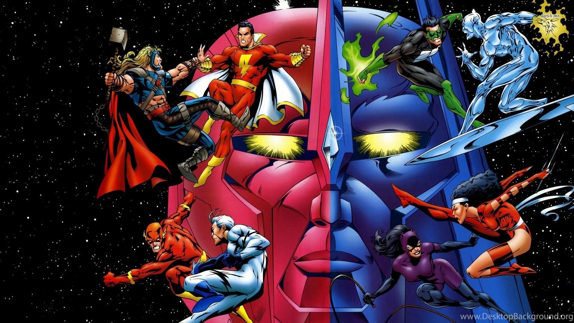 Wallpapers superheroes marvel x dc comics vs 1920x1080 desktop background - Marvel and dc wallpapers ...