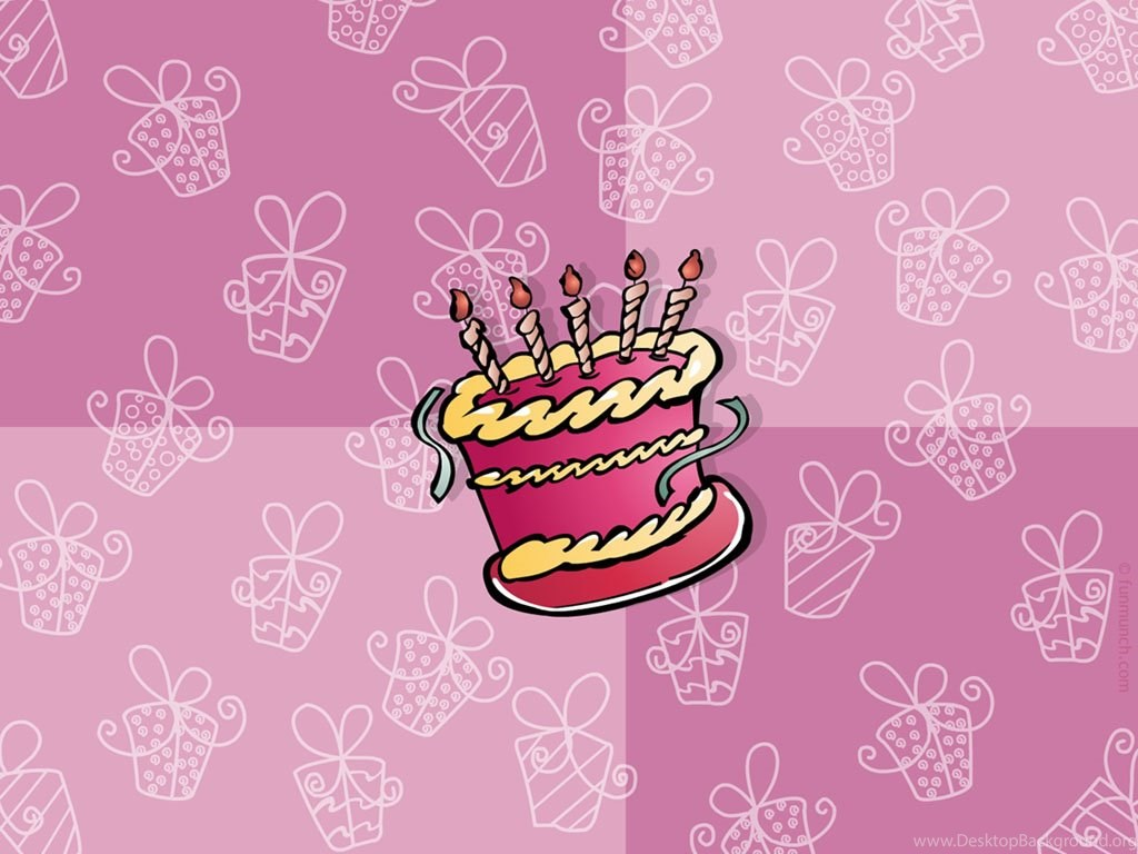 Pink Backgrounds With Birthday Cakes Free Ppt Backgrounds For Your Desktop Background