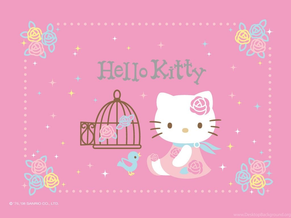 Hello Kitty Pink Roses Wallpapers Cute Wallpapers Desktop Background