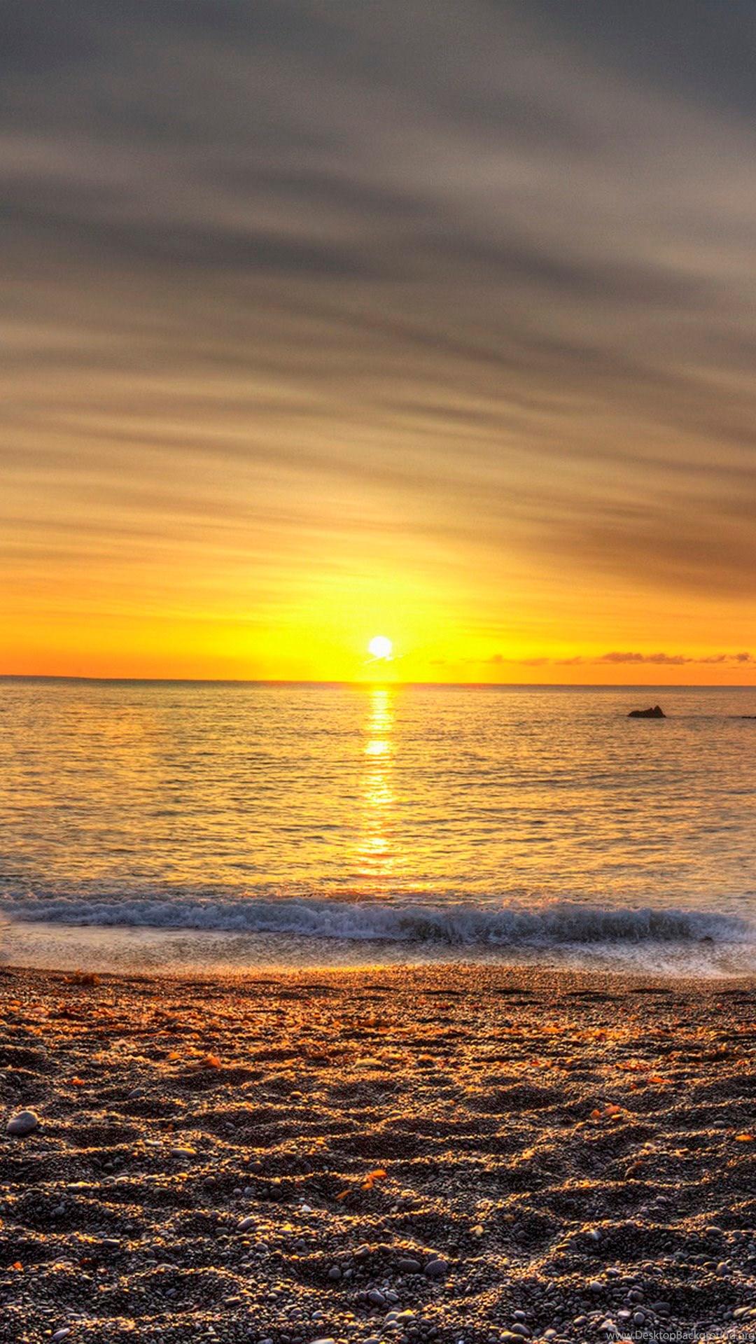 Beautiful Beach Sunset Wallpaper IPhone 6 Plus Wallpapers Desktop