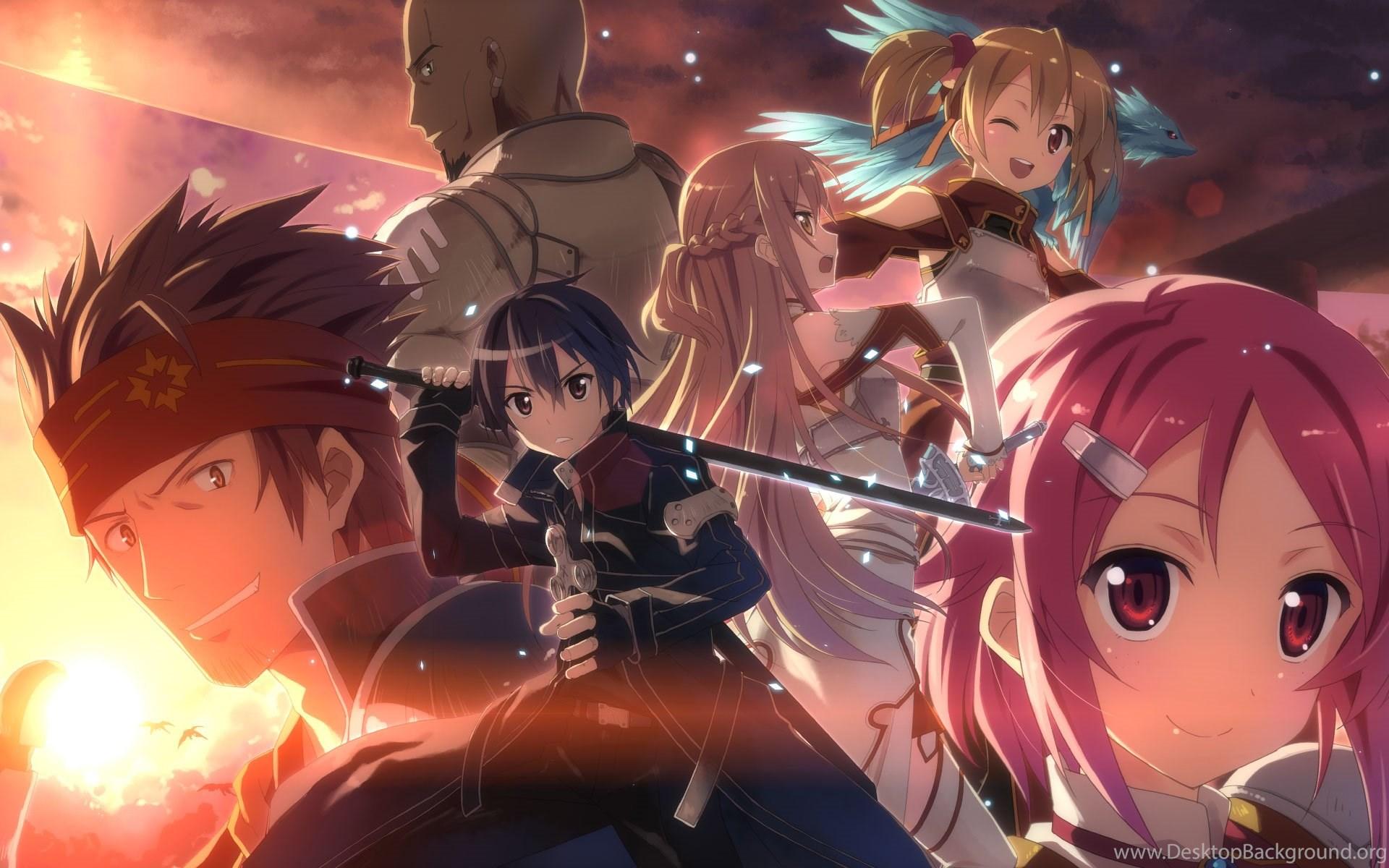 Hd Sao Sword Art Online Kirito And Asuna Desktop Wallpapers Full