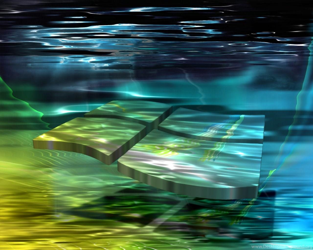 Windows 7 Logo Under Water Wallpapers Desktop Background