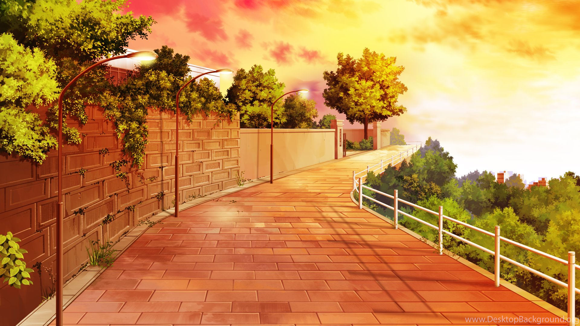 Anime Scenery Wallpapers Hd 6390 1920x1080 Umad Com Desktop Background