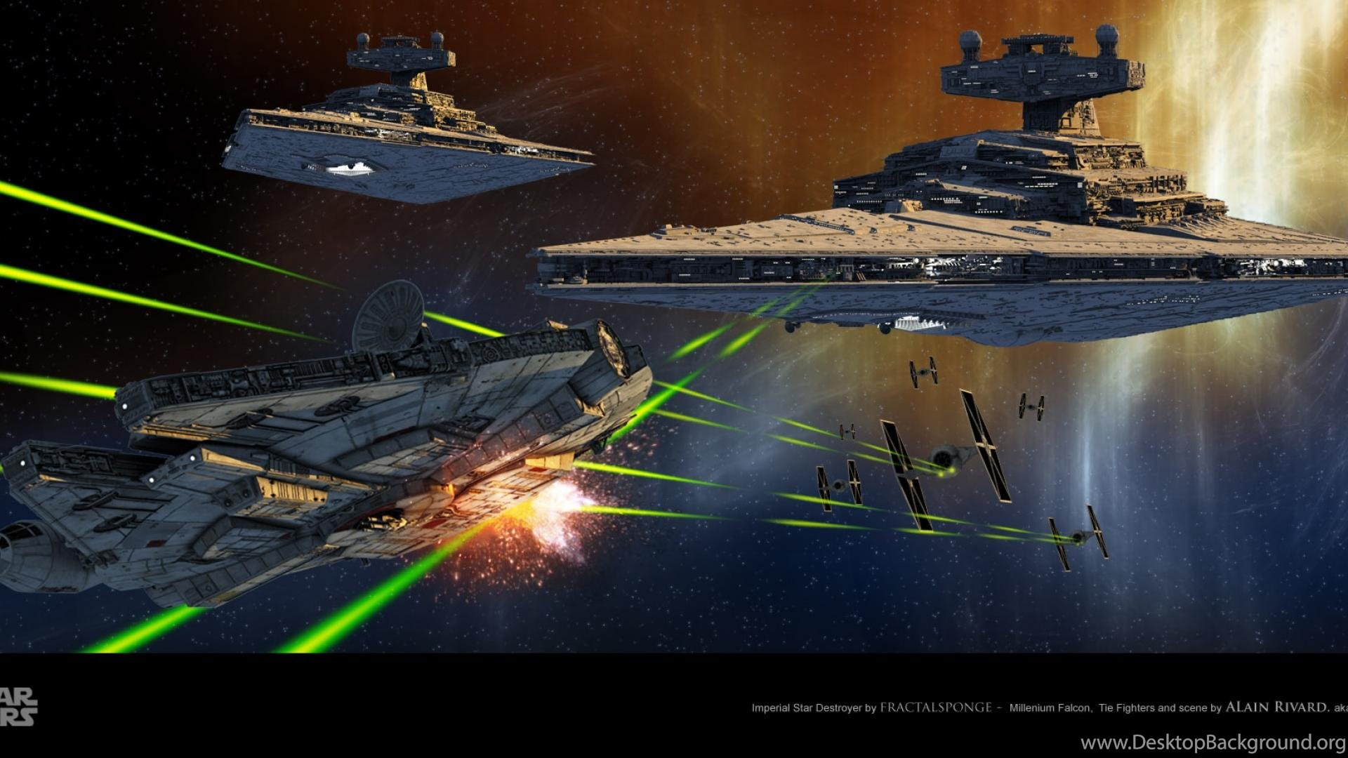Millennium Falcon Star Destroyer Star Wars Wallpapers Desktop Background