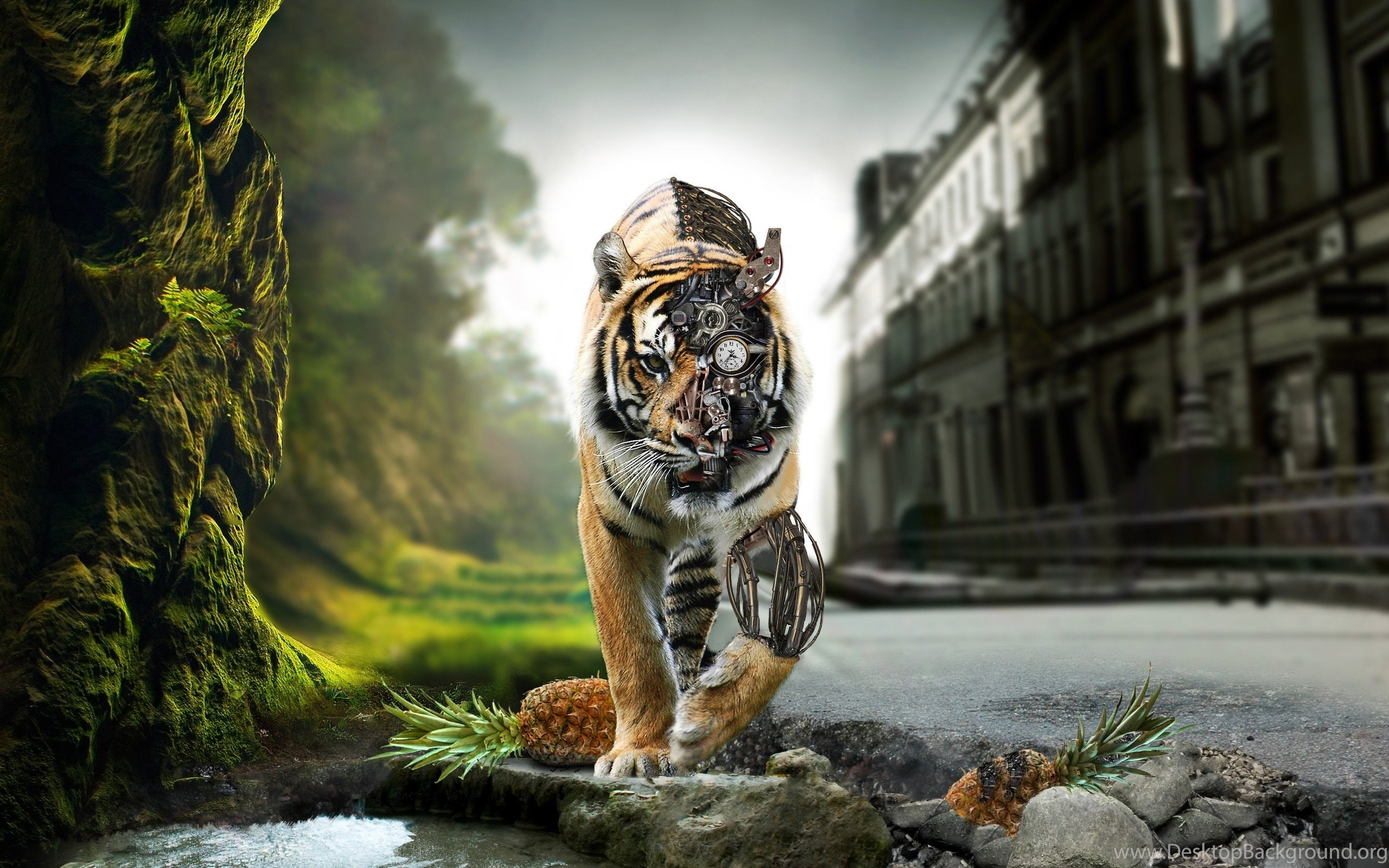 Download The Cyborg Tiger Wallpaper Cyborg Tiger Iphone Wallpapers