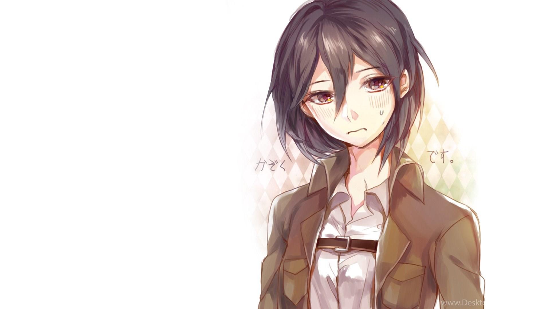 anime simple backgrounds anime girls white backgrounds shingeki no