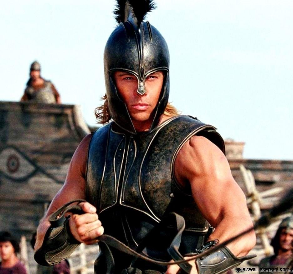 Brad Pitt Troy Movie Desktop Background