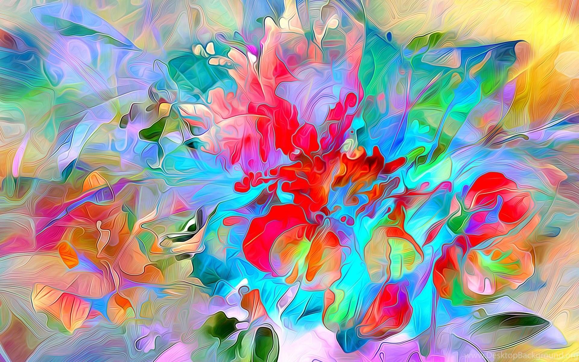 rainbow color splash backgrounds wallpapers download hd