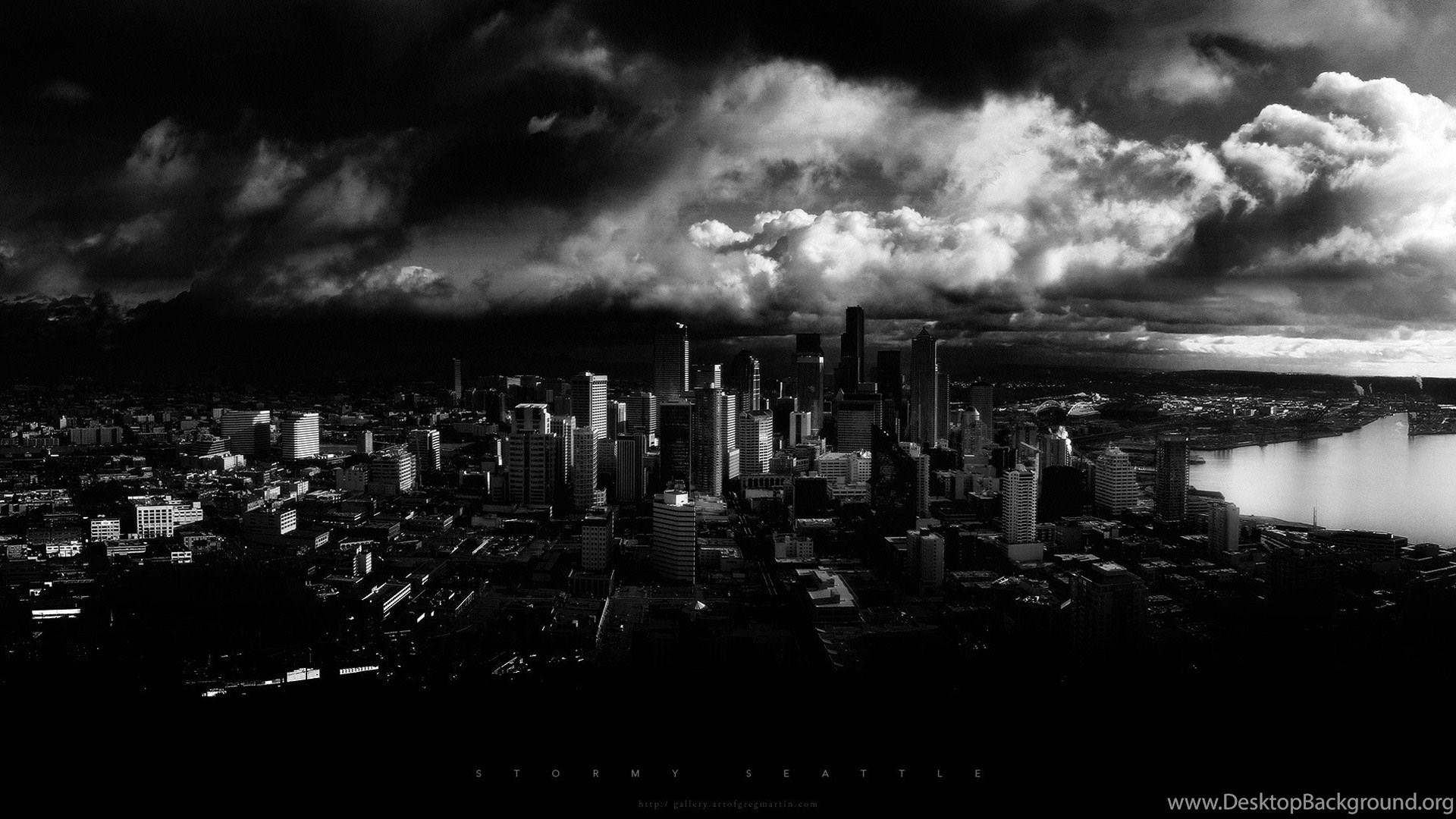 Black And White City Wallpapers HD 03 Desktop