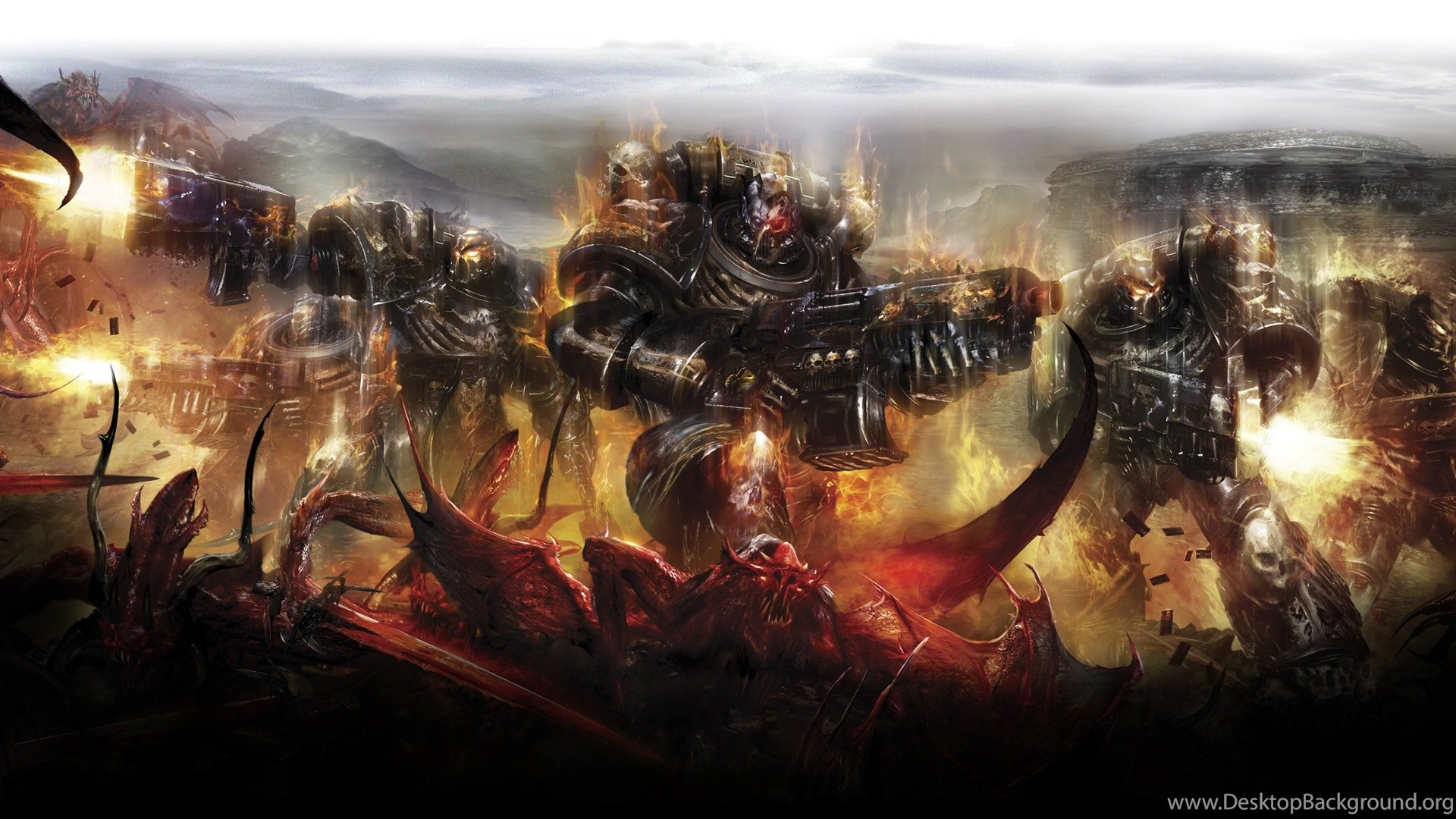 Warhammer 40000, Space Marines, Demon, Legion Of The Damned
