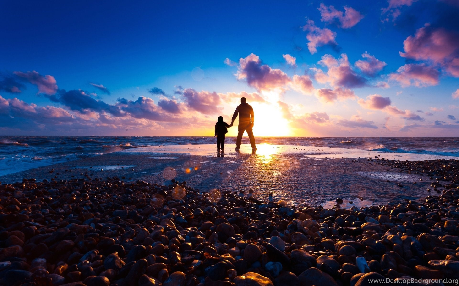 Wallpapers Father And Son At Beach 1920 X 1200 People Men Women